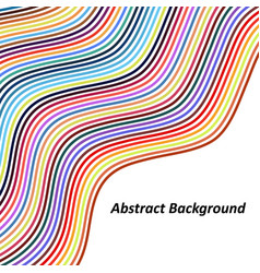 Optical art background colorful wave design vector