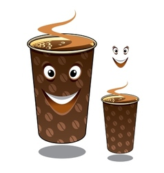 Two cartoon takeaway coffees vector