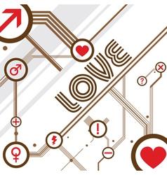 love design background vector image
