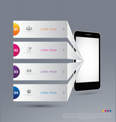 Infographic design with smartphone vector