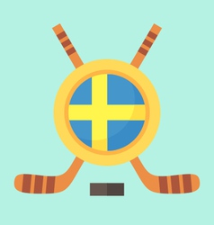 Hockey in sweden vector