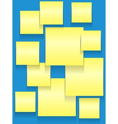 Sticky squares on blue vector