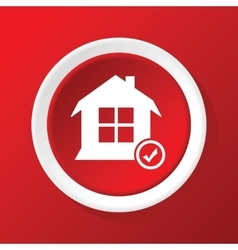 Select house icon on red vector