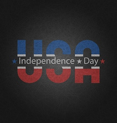 Retro poster american independence day greeting vector
