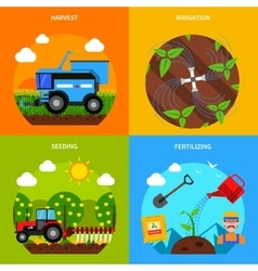 Agriculture concept set vector
