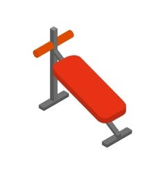 Athletic bench for training icon vector