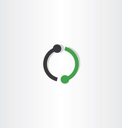 Logo letter o green black icon sign vector
