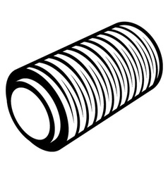 Roll of wrapping foil thread spool vector