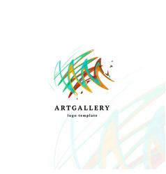 Abstract art gallery modern logo unusual vector