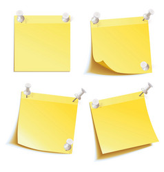 Blank notes pinned on corkboard vector