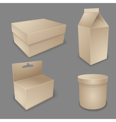 blank packing collection vector image vector image