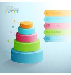 Business Infographics five stages in the form of vector image vector image