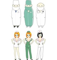 comic doctors vector image vector image
