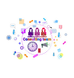 consulting team support technical online chat web vector image vector image