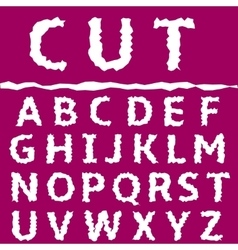 Cut letter set vector image vector image