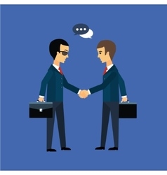 Deal two businessmen shaking hands vector image