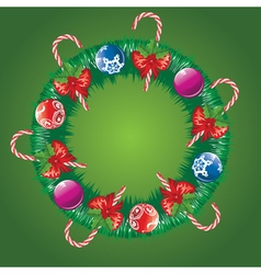 Decorated christmas wreath2 vector