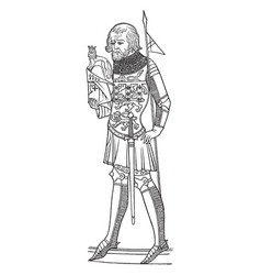Effigy of henry first duke of lancaster is an vector