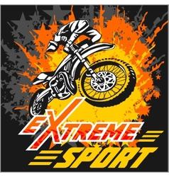 eXtreme sport - moto emblem vector image