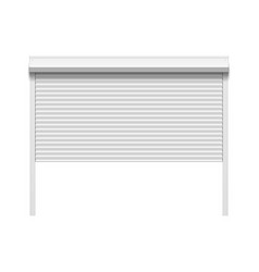 garage door with rolling shutters vector image vector image