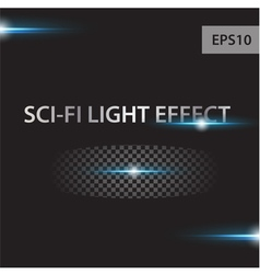 Glow light effect stars bursts vector