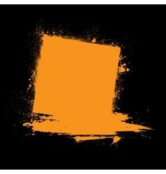 Grunge ink blots orange vector image vector image