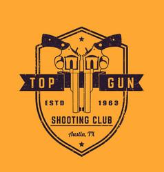 gun club vintage logo vector image vector image