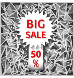 Icon big sale vector image