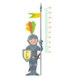 Knight boy meter wall or height chart vector