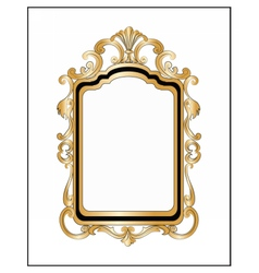 Photo frame with ornaments vector image