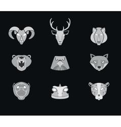 Predator animals icons format vector image vector image