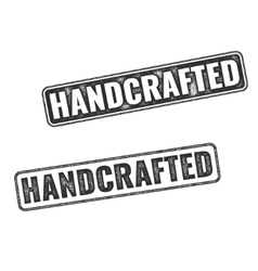 Realistic Handcrafted grunge rubber stamps vector image vector image