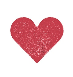 Red stamped heart vector