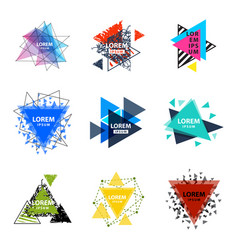 Sacred geometry triangle abstract logo figures vector