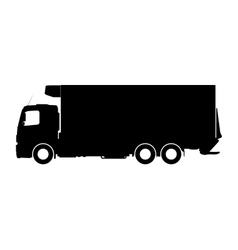 Silhouette of a truck on a white background vector image vector image