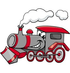 Steam engine cartoon character vector