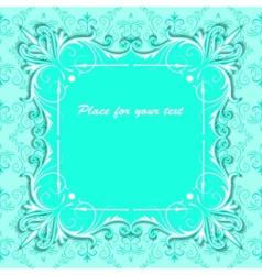 vintage square paper frame vector image vector image