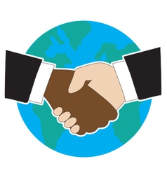 World Hand Shake vector image vector image