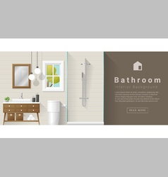 Interior design modern bathroom background 7 vector