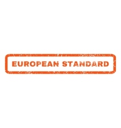 European standard rubber stamp vector