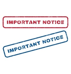 Important notice rubber stamps vector