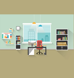 modern office interior simple image vector image