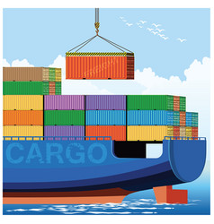 Loading on a container carrier vector