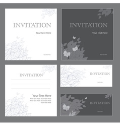 Decorative invitations vector image