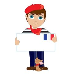 French boy sign vector