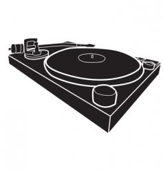 DJ decks vector image