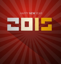 2015 retro happy new year card vector