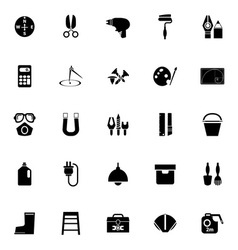 Diy tool icons on white background vector