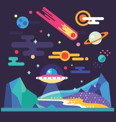 Space landscape vector