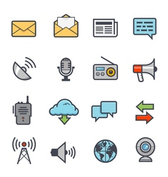 Communication icon bold stroke with color vector